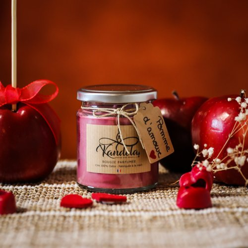 Bougie 1 mèche Pomme d'amour
